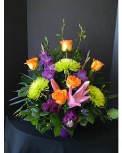 Funeral Flowers Basket