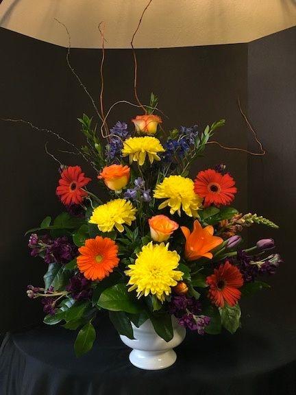 Funeral Flowers Urn