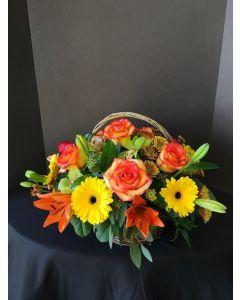 Basket of Fall Flowers