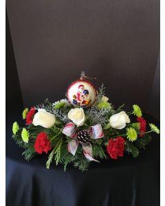 Christmas Flowers Centerpiece