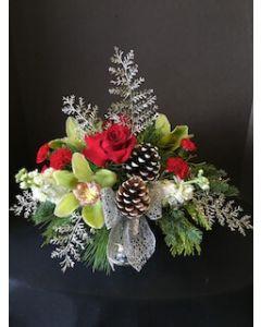 Christmas Centerpiece of Silver