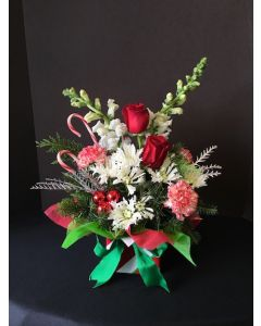 Christmas Flowers with Candy Cane's