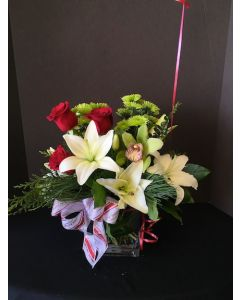Christmas Flowers with Lilies and Roses
