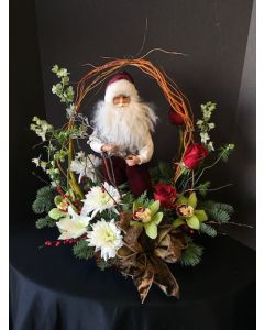 Christmas Flowers with Santa