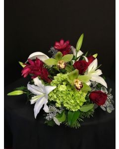 Christmas Flowers with White Lilies