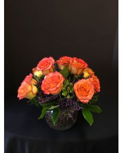 Circus Roses in a Small Bowl