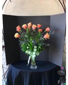 Dozen Orange Roses for Valentine's Day