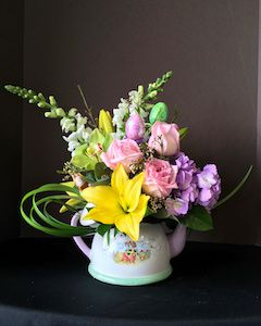 Easter Flowers Tea Pot