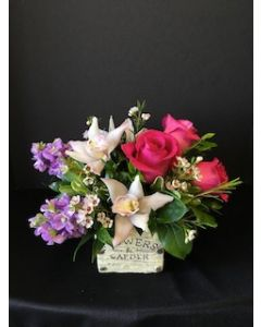 Flower Garden With Orchids and Roses