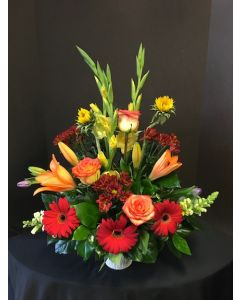 Funeral Flowers of Bright Colors