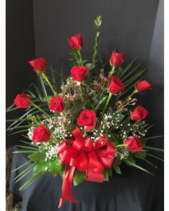 Funeral Flowers of Red Roses