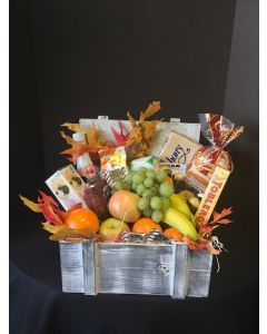 Gift Basket with Fruits and Chocolates