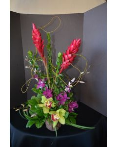 Hawaiian Flowers with Ginger and Orchids