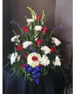 Patriotic Funeral Flowers -On a Cloud