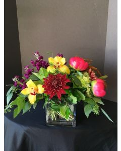 Peonies and Orchids