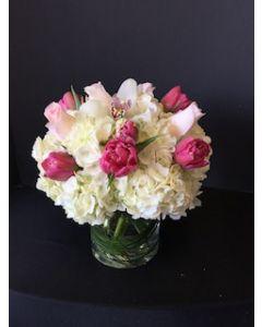 Peonies Flowers with Hydrangea