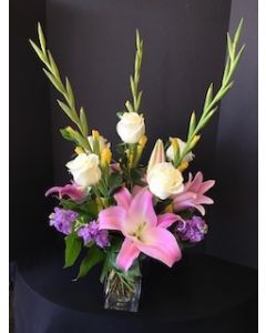 Pink Lilies and Gladiola Flowers