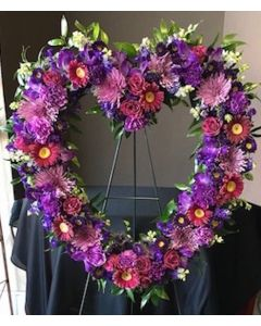 Purple Funeral Flowers