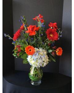 Roses, Daisies, Hydrangea