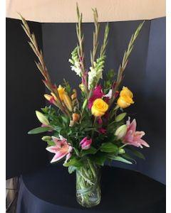 Roses, Gladiolas, Lilies