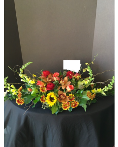 Thanksgiving Centerpiece Roses and Orchids