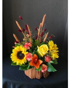 Thanksgiving Flowers Pumpkin