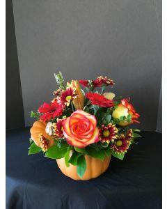 Thanksgiving Pumpkin of Flowers