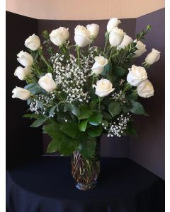 Three Dozen White Roses