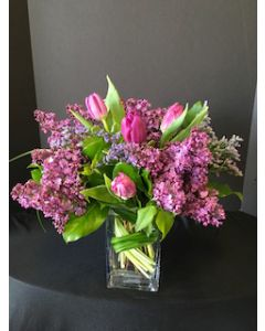 Tulips and Lilac Flowers