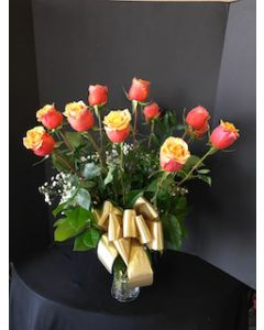 Two Tone Orange Roses