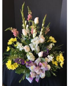Funeral Flowers in an Urn